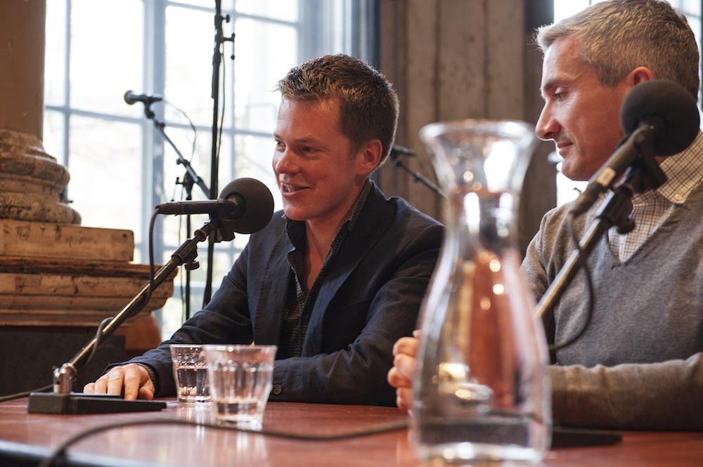 Lodewijk Petram tijdens uitzending OVT Libris Geschiedenisprijs 2016