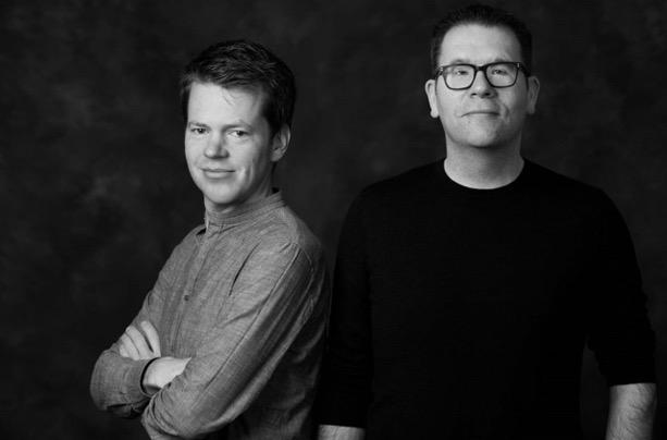 Lodewijk Petram en Samuël Kruizinga, auteurs van De oorlog tegemoet. Foto Jelmer de Haas.